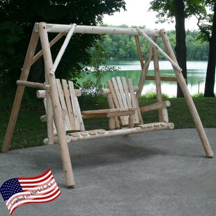 Tete-A-Tete Porch Swing with Stand by Lakeland Mills