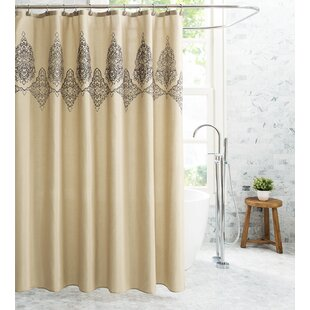 Inexpensive Demaio Embroidered Damask 13 Piece Shower Curtain Set ByCharlton Home