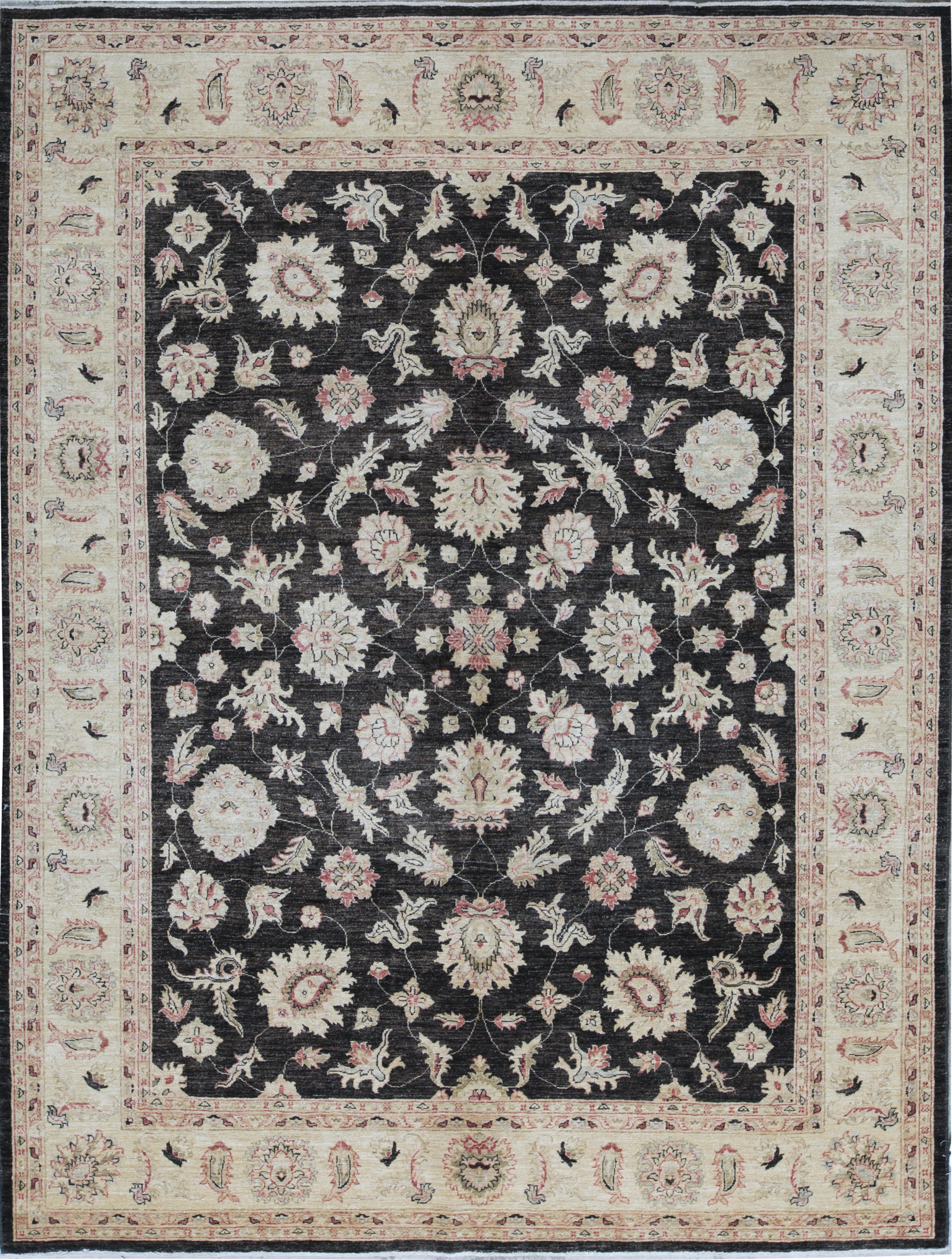 Bokara Rug Co Inc Ziegler Oriental Hand Knotted Wool Black Beige Area Rug Wayfair