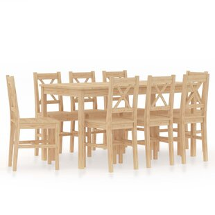 Melva Dining Set With 8 Chairs By Brambly Cottage