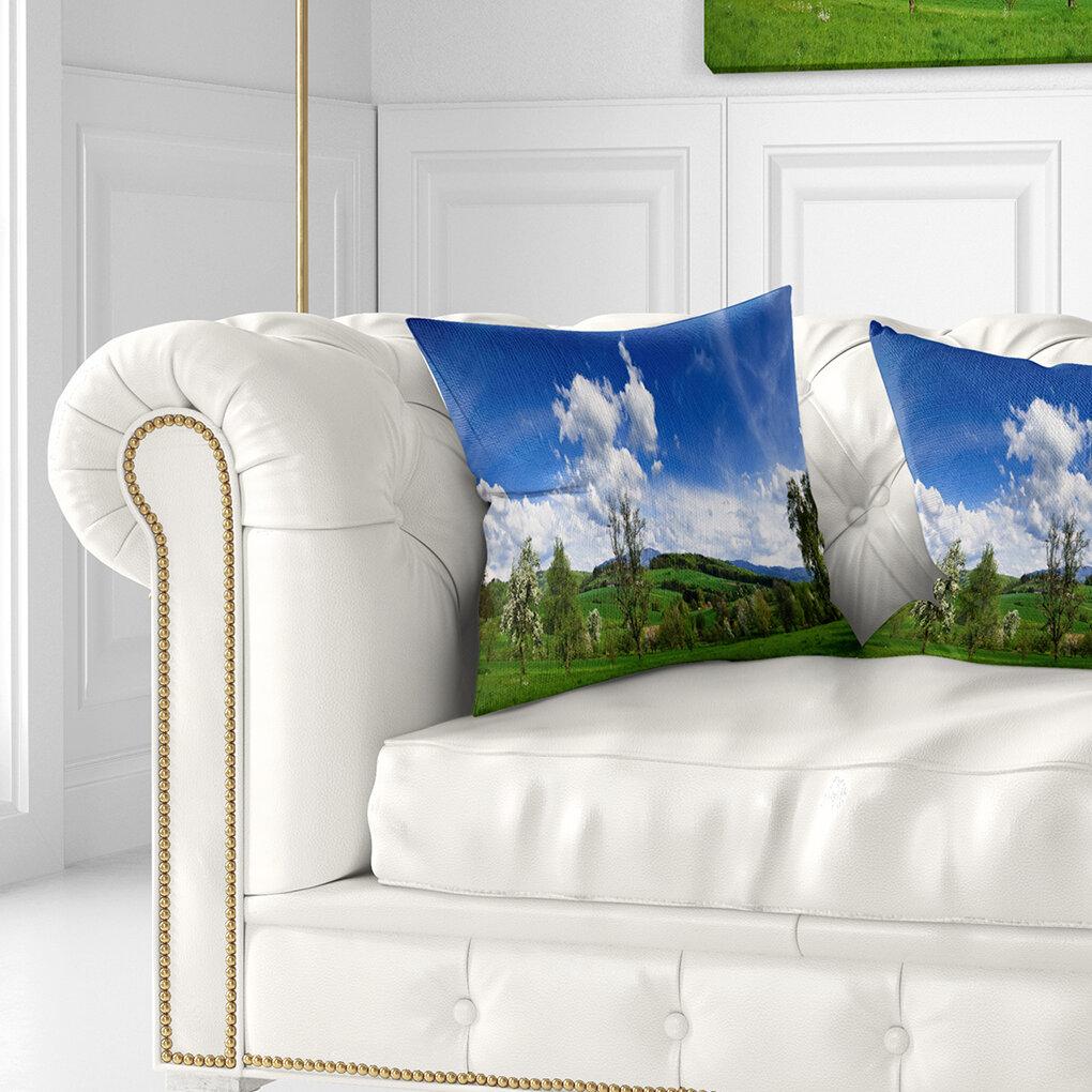 East Urban Home Photography Spring Landscape Throw Pillow Wayfair