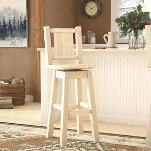Abella Engraved 30 Swivel Barstool Loon Peak