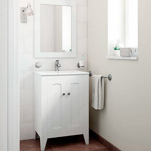 Compare Leonardo Classic Vintage 24 Single Bathroom Vanity Set with Mirror By Mistana