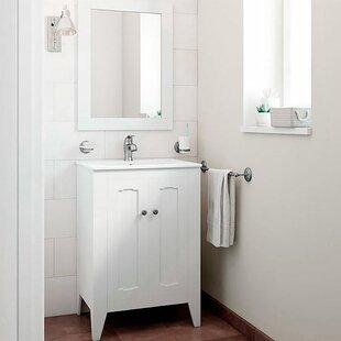 Leonardo Classic Vintage 24 Single Bathroom Vanity Set with Mirror by Mistana
