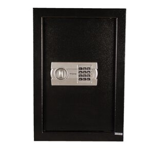 Tracker Safe Steel Wall Safe with Electronic Lock