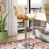 Sabella Swivel Adjustable Height Bar Stool by Mercury Row