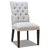 Kate Upholstered Solid Wood Parsons Chair in Gray (Set of 2) by Winston Porter
