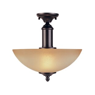 Alexandria Semi Flush Mount by Fleur De Lis Living