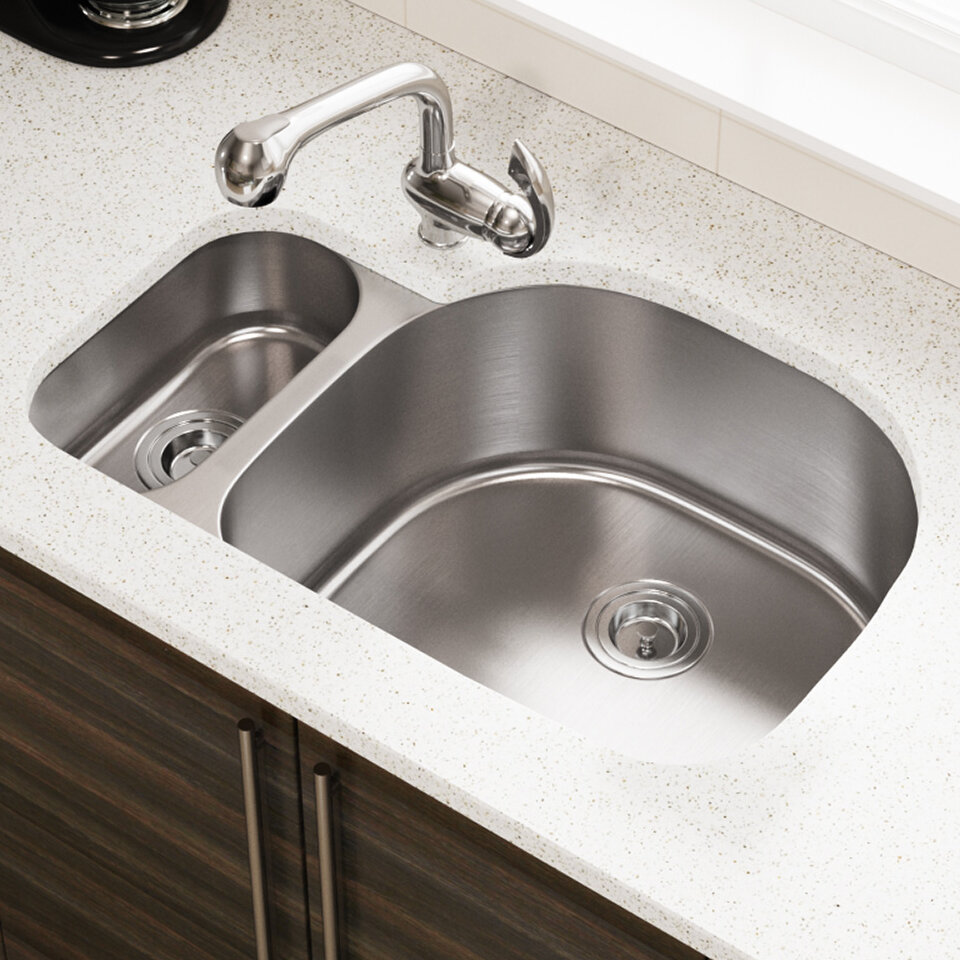Mrdirect Stainless Steel 32 X 21 Double Basin Undermount Kitchen Sink Wayfair