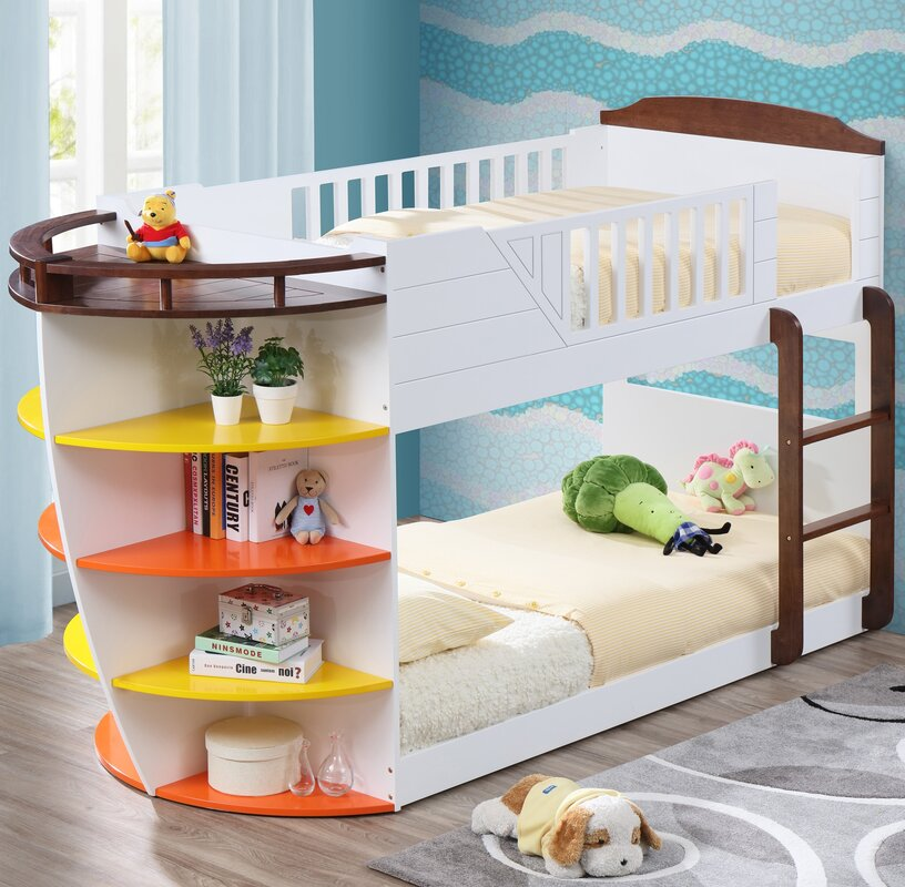 Neptune Twin Over Bunk Bed With Storage Shelves