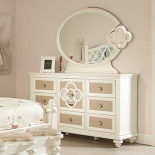Najarian Furniture Paris 7 Drawer Combo Dresser with Mirror
