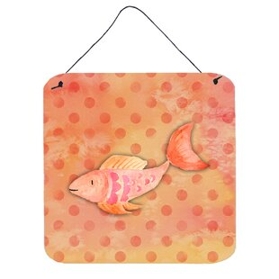 Fish Orange Aluminum Wall Décor