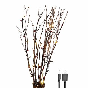 Lightshare Warm LED 20 Light Natural Birch Branches