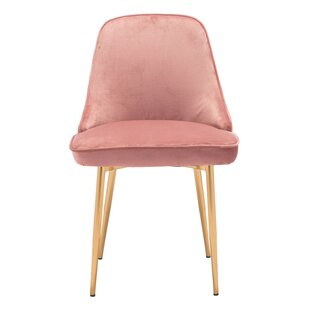 Compare prices Coleshill Dining Chair Navy Velvet by Everly Quinn Reviews (2019) & Buyer's Guide