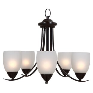 Monrovia 5-Light Shaded Chandelier by Charlton Home