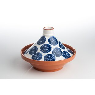 1.75 Qt. Flowers Ceramic Round Tagine