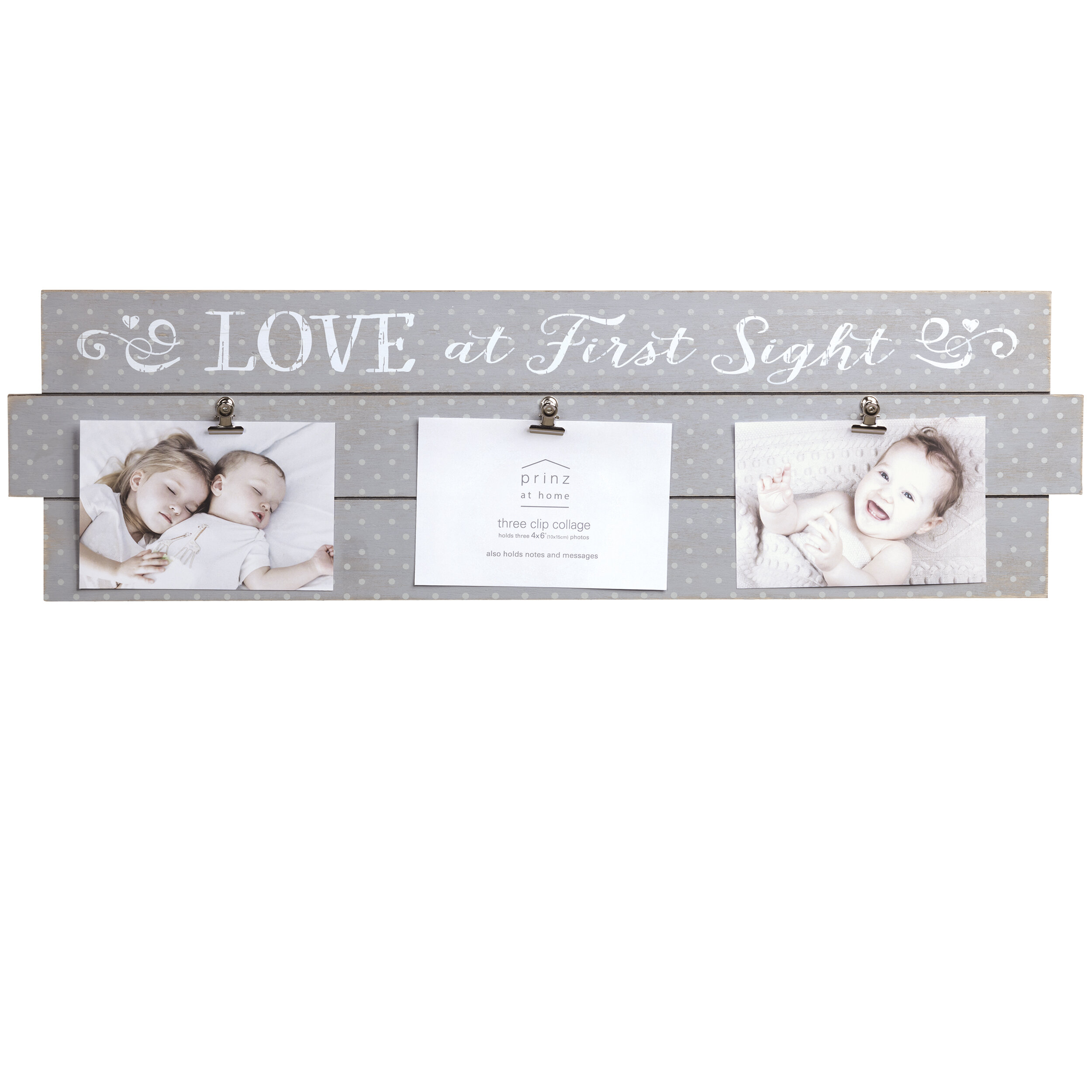 Prinz \'Love at First Sight\' Baby Plank Picture Frame | Wayfair