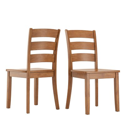 Alverson Solid Wood Dining Chair Color: Oak by August Grove