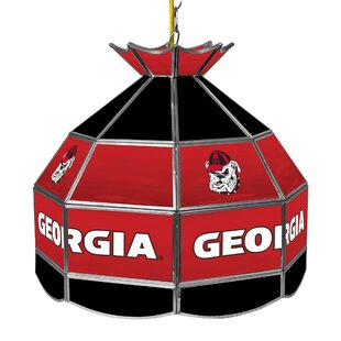 Trademark Global University of Georgia Stained Glass 1-Light Pool Table Lights Pendant