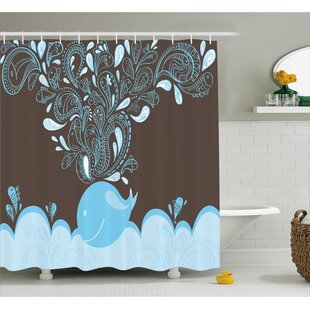 Lottie Indian Batik Sea Whale Shower Curtain