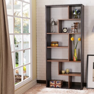 Salyer Geometric Bookcase Ebern Designs