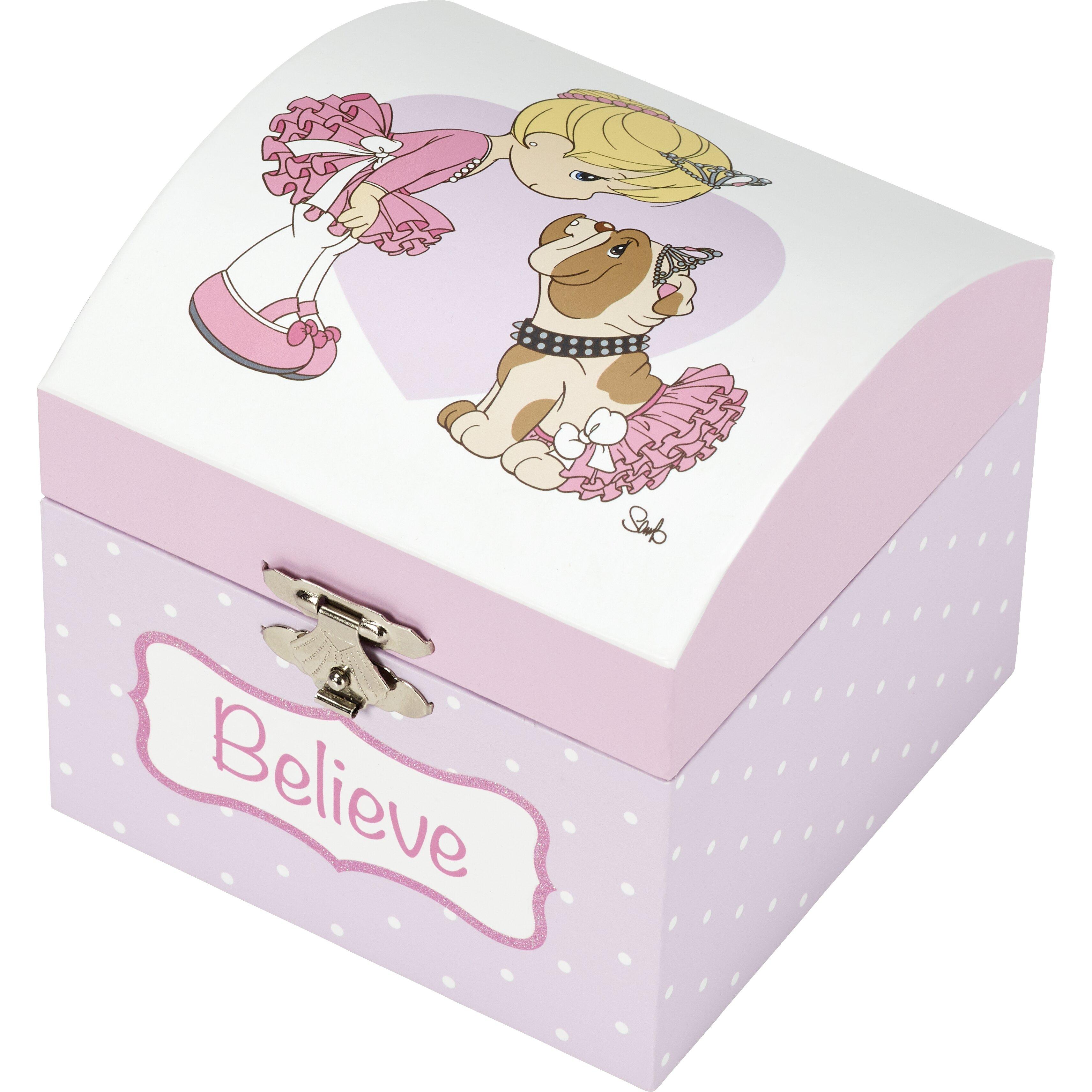Precious Moments Believe Ballerina Musical Wood Jewelry Box Reviews Wayfair
