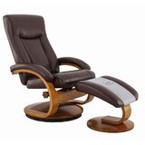 Oslo Manual Swivel Recliner with Ottoman by OsloCollection