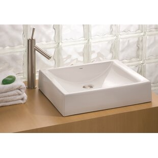 Cheviot Products Pacific Vitreous China Rectangular Vessel Bathroom Sink