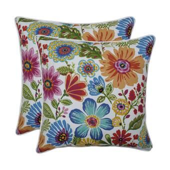 Gracie Oaks Tyriq Indoor Outdoor Plaid Throw Pillow Wayfair