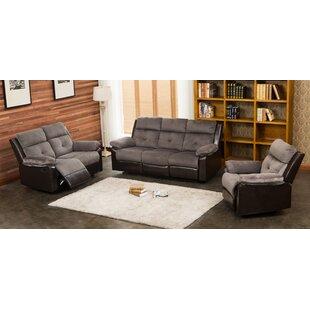 Red Barrel Studio Tanna Reclining 3 Piece Living Room Set