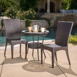 Highland Dunes Tuller 3 Piece Bistro Set