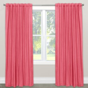 Curiel Unlined Solid Room Darkening Rod Pocket Single Curtain Panel by Charlton Home