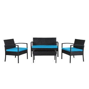Jefferies 4 Piece Wicker Seating Group