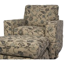 Columbus Slipcovered Armchair and Ottoman by August Grove