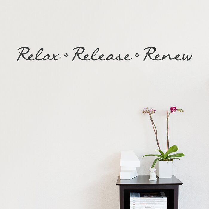Relax Release Renew Wall Decal Quote