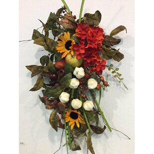 Floral swag youll love wayfair fall thanksgiving harvest teardrop swag mightylinksfo