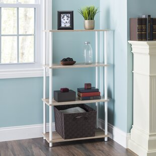 Darin Pine Wood 3 Tier Rectangular Etagere Bookcase