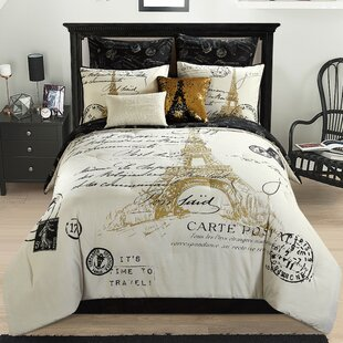 atwell paris 8 piece reversible comforter set - Paris Bedding