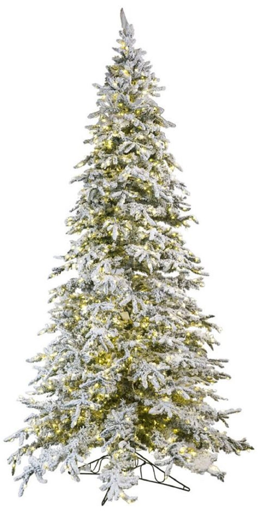 How Many Lights For Christmas Tree.Flocked Christmas Trees You Ll Love In 2019 Wayfair