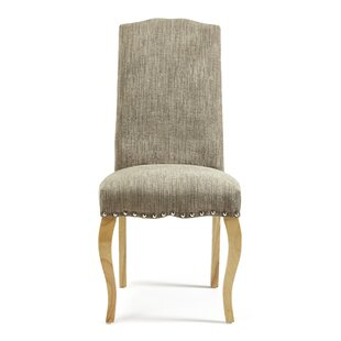 Solid Wood Upholstered Dining Chair (Set Of 2) By Ophelia & Co.