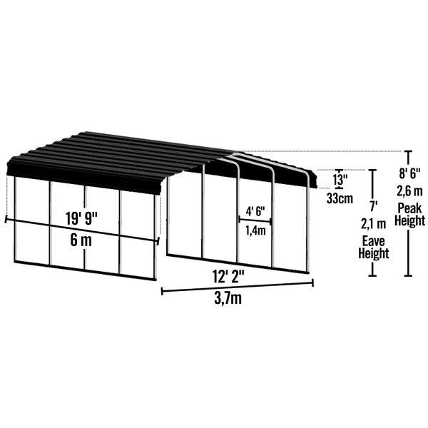 Shelterlogic Steel Carport 12 Ft X 20 Ft Canopy Reviews Wayfair