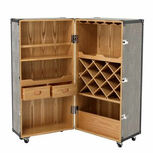 Wheeled Wine Bar Cabinet
