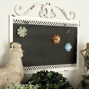 Simply Ingenious Metal Magnetic Wall Mounted Chalkboard