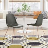 Saddle Upholstered Side Chair (Set of 2) by Brayden Studio®