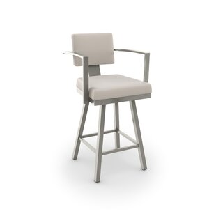Perrotta 26.75 Swivel Bar Stool by Brayden Studio #1