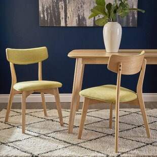 George Oliver Hoopes Mid Century Modern Upholstered Dining Chair (Set of 2)