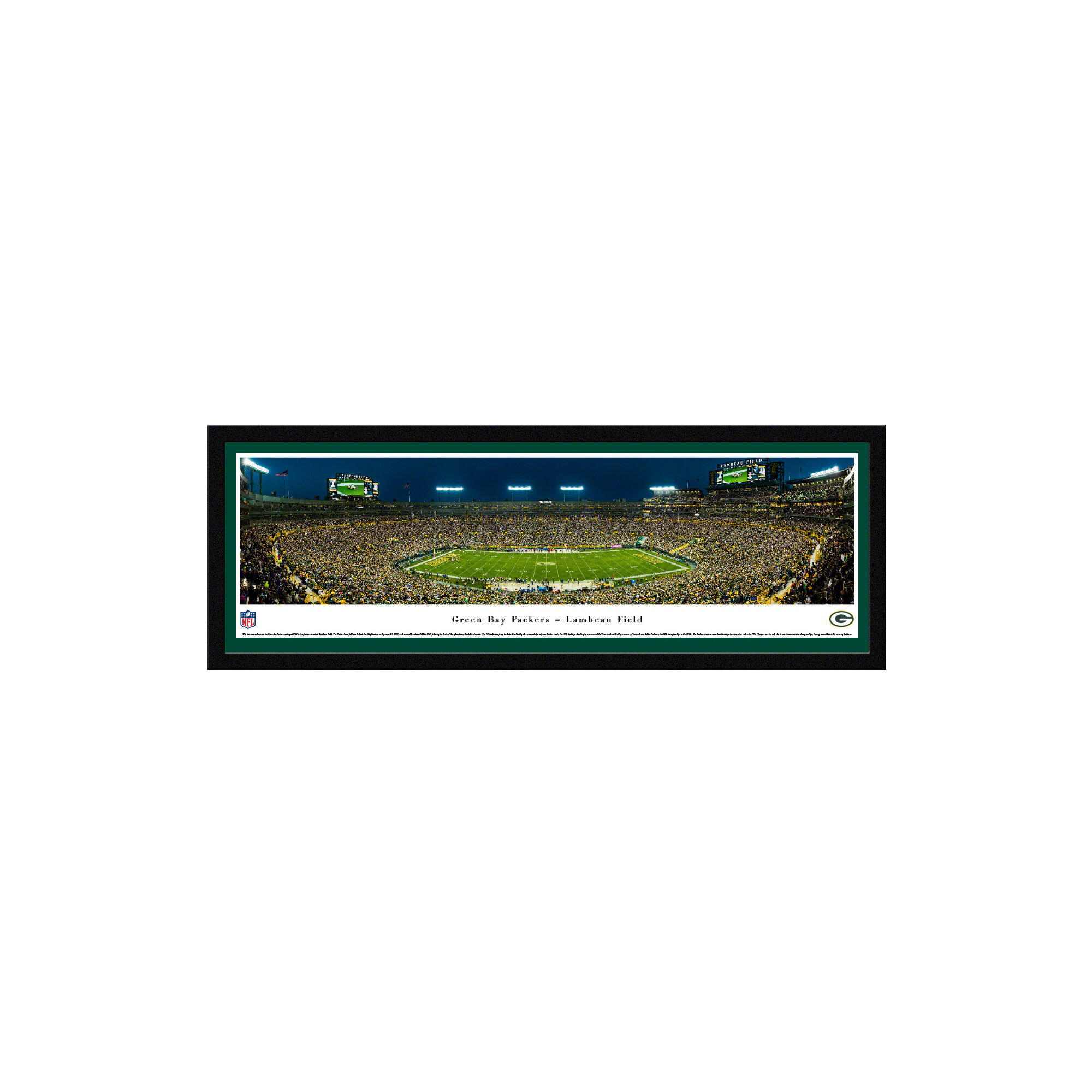 Vault W Artwork Nfl Green Bay Packers Lambeau Field By James Blakeway Picture Frame Panoramic Photographic Print On Paper Wayfair