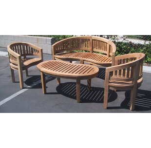 Teak Island 4 Piece Sofa Set