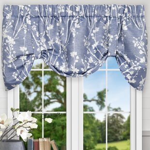 Tie-Up Valances & Kitchen Curtains You'll   Wayfair on two tone kitchen colors, two tone kitchen cabinet ideas, two tone shaker style kitchen,