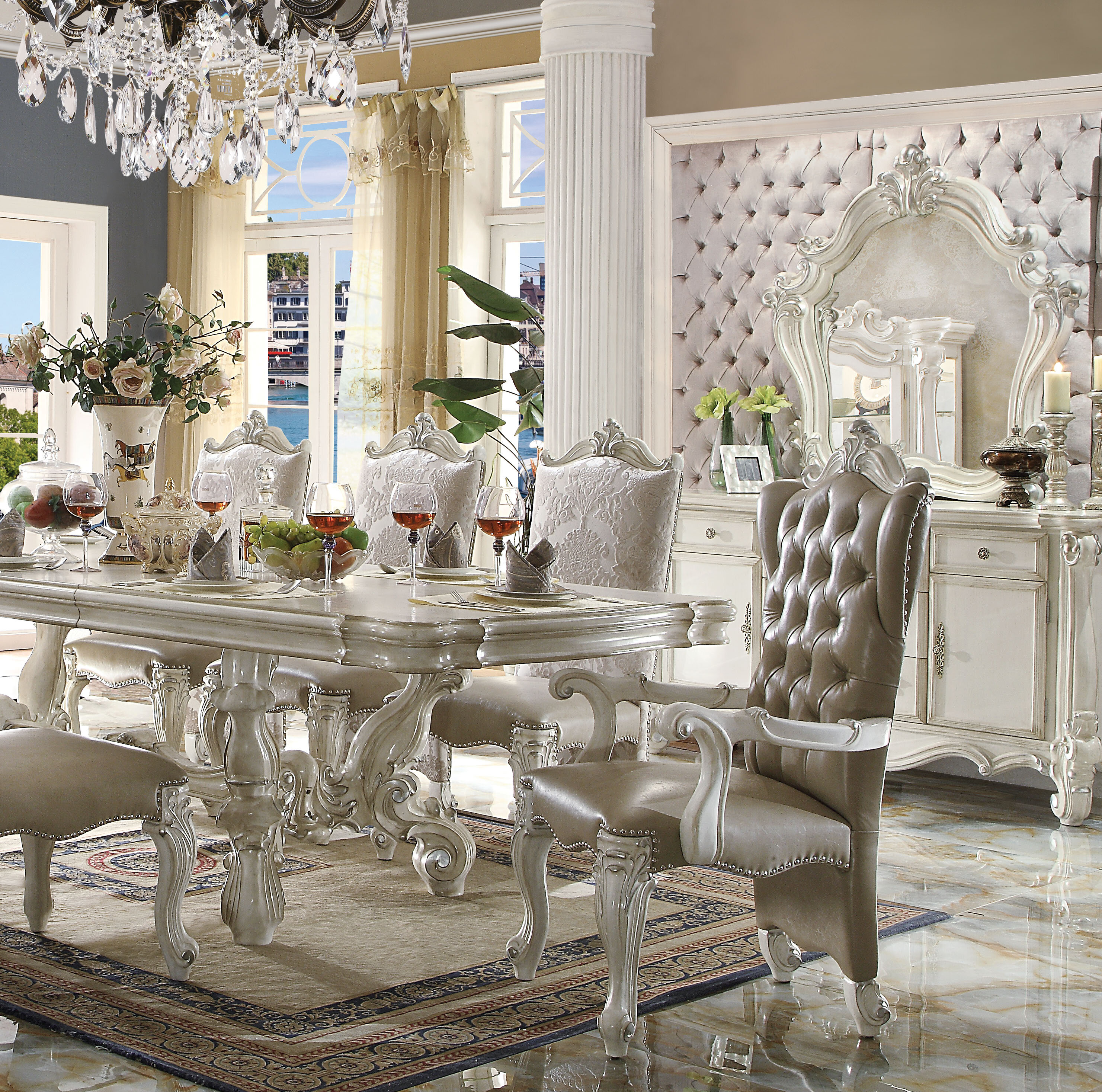 Astoria Grand Welton Button Tufted Upholstered Dining